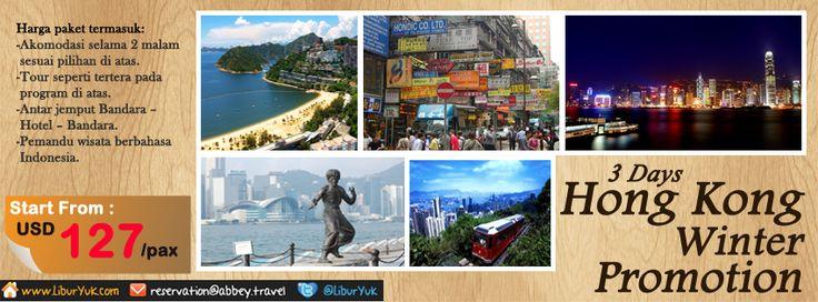 Ingin merasakan indahnya Musim #Dingin di Hong Kong?yuk booking paketnya sekarang juga,kini tersedia paket 3 Hari Hong kong winter Promotion.Ada harga spesial lho.  Dapatkan Special Paket tersebut dari #LiburYuk.com di http://liburyuk.com/promotional-package/book/64339389/3D-Hongkong-Winter-Promotion  #jalan2 #abbeytravel #holiday #winter