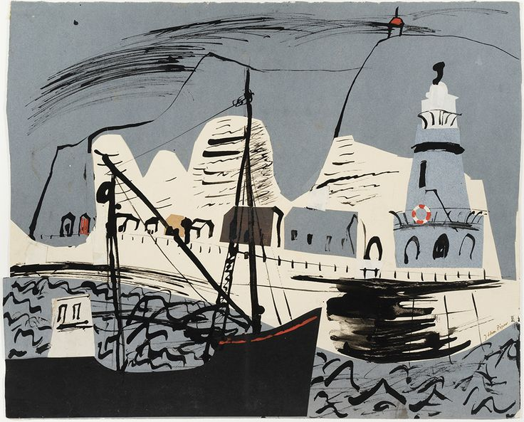 Newhaven Harbour by John Piper
