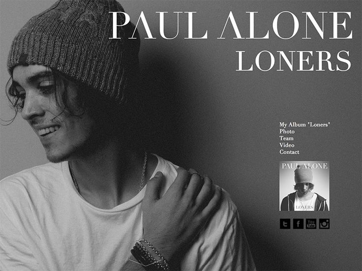 """Os presentamos la nueva web que hemos diseñado en YOU para Paul Alone, cantante y compositor, que lanzará su primer álbum """"Loners"""" el próximo 16 de mayo. Gracias Paul por dejarnos formar parte de tu proyecto, permitiéndonos integrar todo lo que más nos gusta, #música, #diseño y #feeling. www.paulalone.com"""