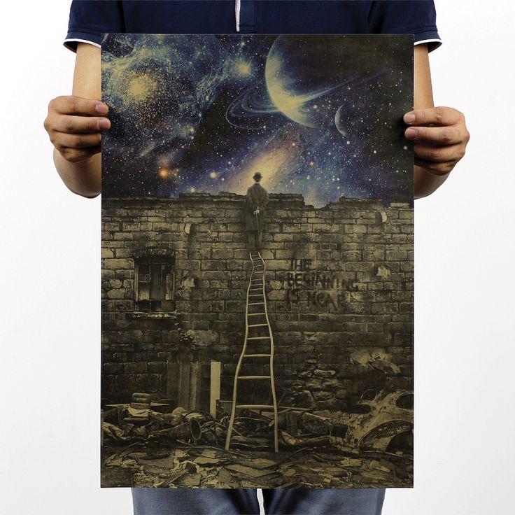 Barato Clássico do Vintage papel Poster início é perto retro cartazes cartazes motivacionais de pintura decorativa cartaz clássico, Compro Qualidade Papéis de parede diretamente de fornecedores da China:       Mapa do mundo mágico de Harry Potter em torno do  Grande papel filme poster 51*35 cm clássico Poster Paper R