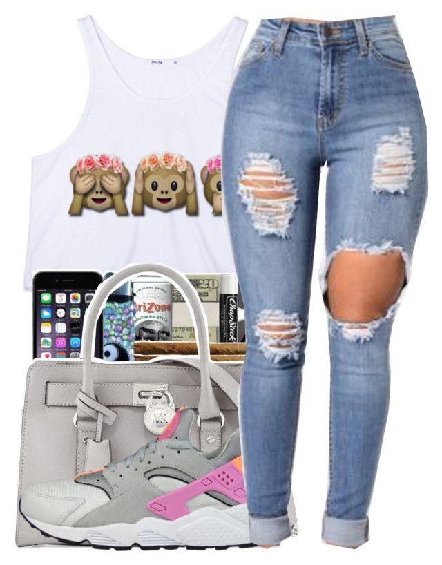 """""""Dazed✨"""" by maiyaxbabyyy ❤ liked on Polyvore featuring MICHAEL Michael Kors and NIKE"""