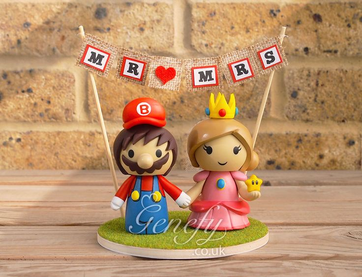 15 Best Images About Cute Super Mario Inspired Wedding Cake Toppers By Genefy Playground On