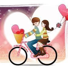 Resultado de imagen para pareja en bicicleta dibujo