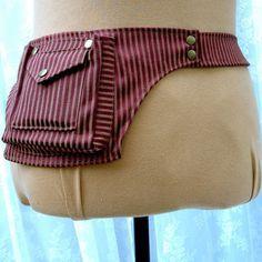 Fancy fanny pack - festival pockets - vegan utility belt - single pocket belt - size Large
