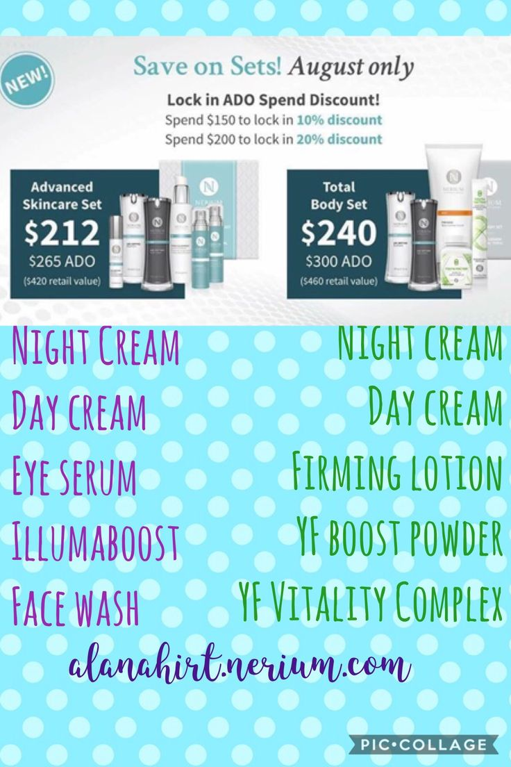 2 NEW patented products & 2 new sets are AVAILABLE NOW!!   Both products are AMAZING & the sets are almost 50% off retail price in AUGUST ONLY (the advanced skincare set includes BOTH of the new products)!!  Scoop these up, they won't be around forever! alanahirt.nerium.com