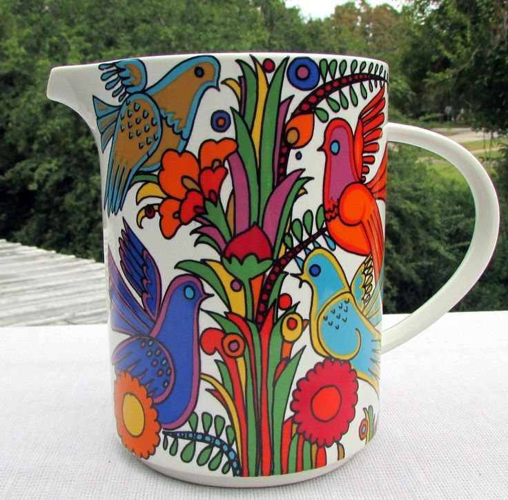 """Villeroy Boch Pitcher Acapulco Luxembourg Porcelain 6"""" Tall 