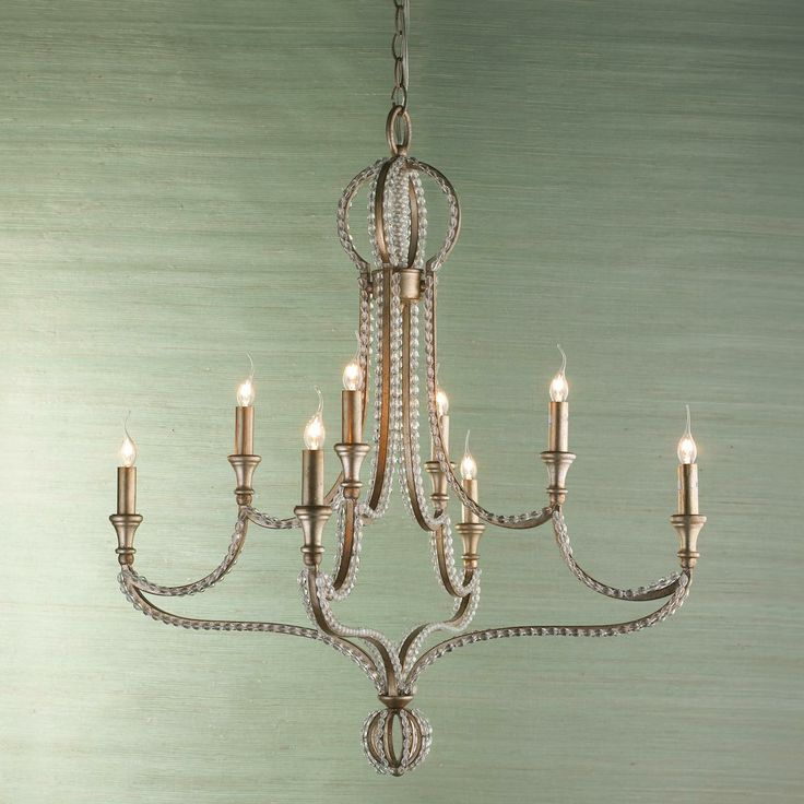Crystal beaded crown chandelier entry light pinterest for How to make beaded chandelier lamp shades
