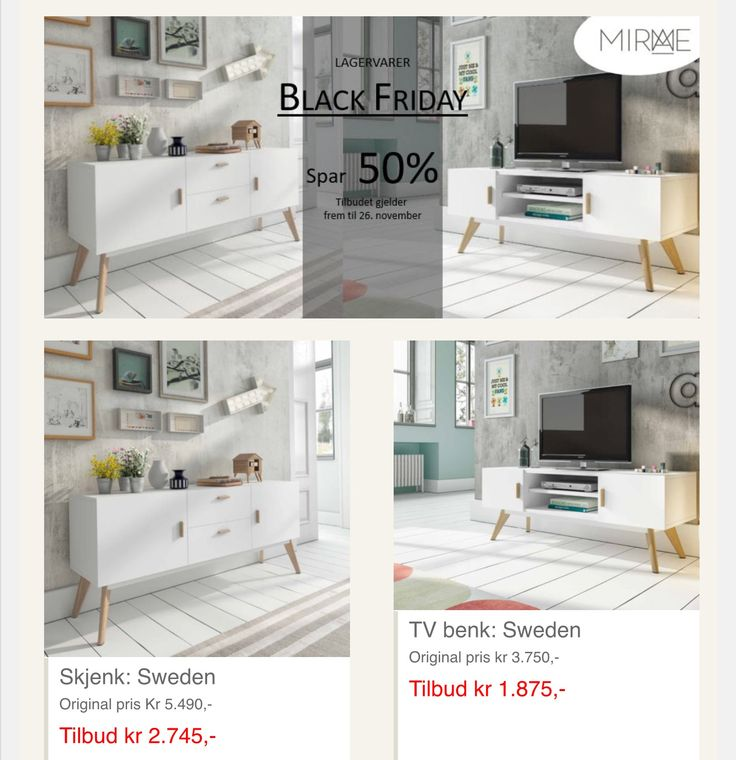 Black Friday!  www.mirame.no #blackfriday #mirame #sweden #tvbenk #tvbord #skjenk #kommode #nordiskdesign #interiør #interior #design #oslo #norge #nettbutikk