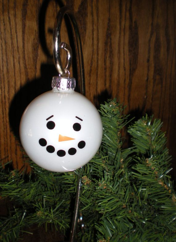6 Snowmen Ornament Decal Kits Decals Dots To Make 6