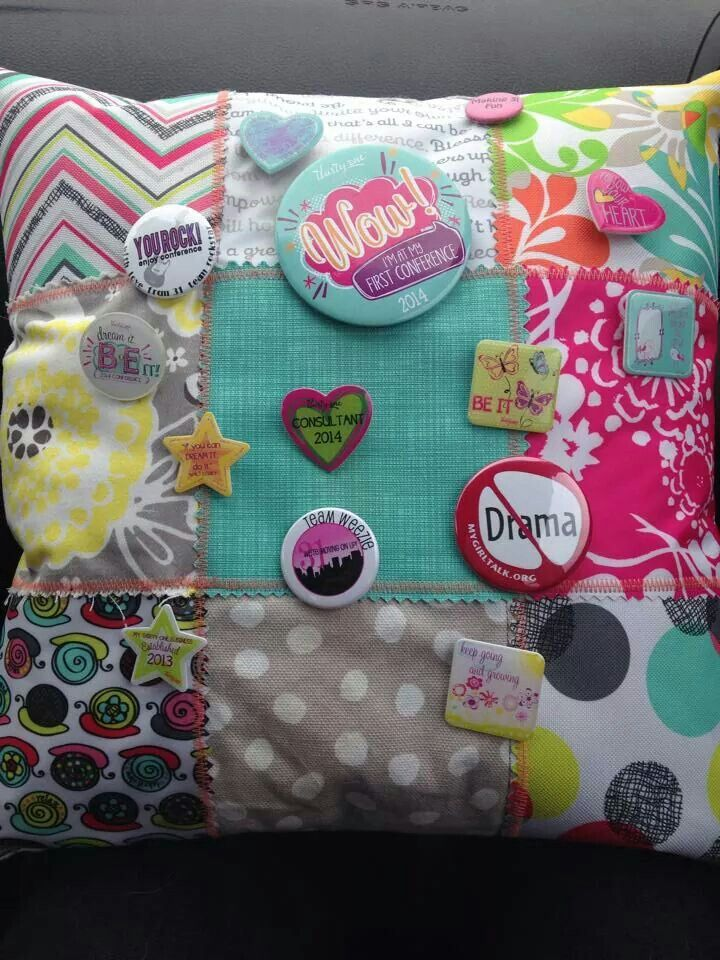 A great way to reuse fabric swatches! Jazz it up with buttons and pins from Conference! Thanks for sharing, Tanya G.