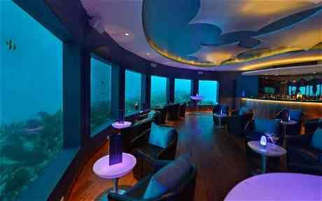 Under water club in the Maldives