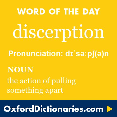 Apart Definition: Discerption (noun): The Action Of Pulling Something Apart