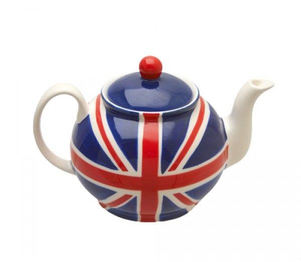 British tea pot: what better flag to adorn a teapot than England's?