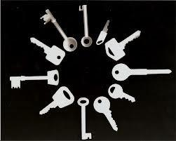 Circle of keys - photogram