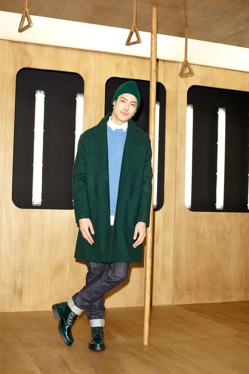 More AMI FW13 - just for the coat. Patch pockets.