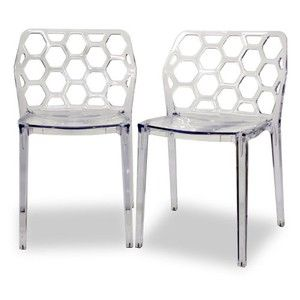 Baxton Studio Honeycomb Dining Chair - Set of 2