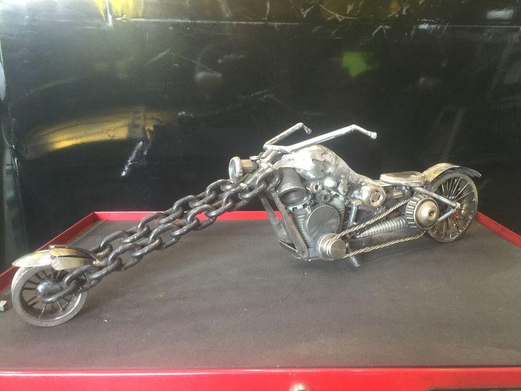 Motorcycle made by Kelly Stevens metal art