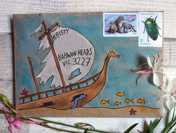 Underwater happy snail mail