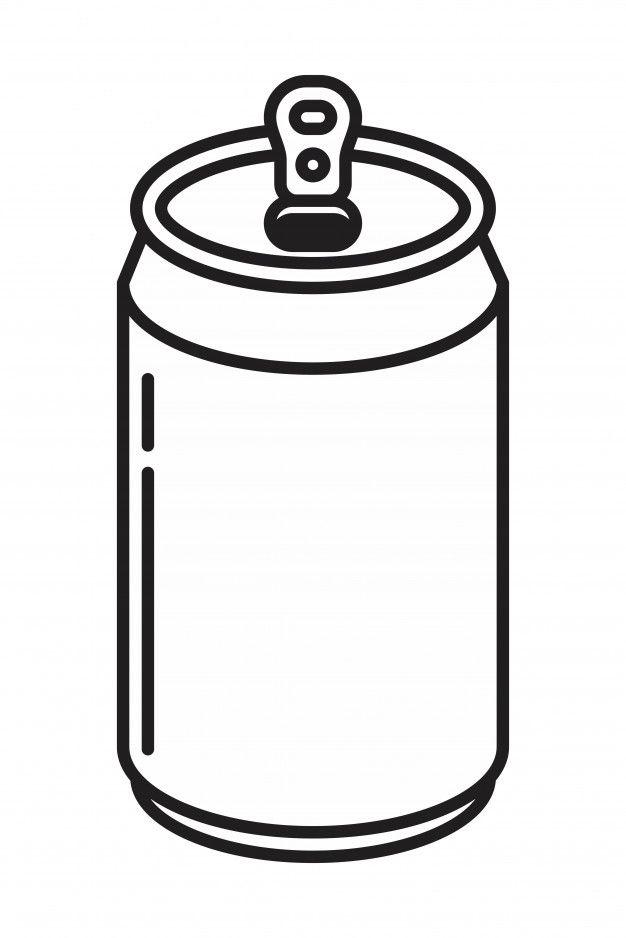 Icone De Canette De Bouteille En Aluminium Soda Dessin De Plage Canette Coloriage Chat