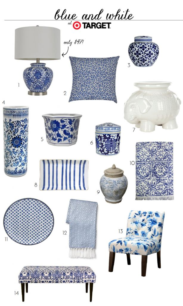 Blue and White Finds At Target