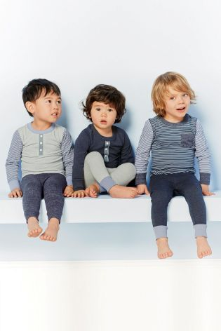 Buy Three Pack Blues Stripe Snuggle Fit Pyjamas (9mths-8yrs) online today at Next: United States of America