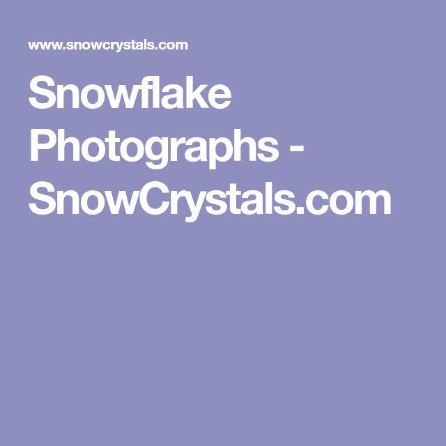 Snowflake Photographs - SnowCrystals.com