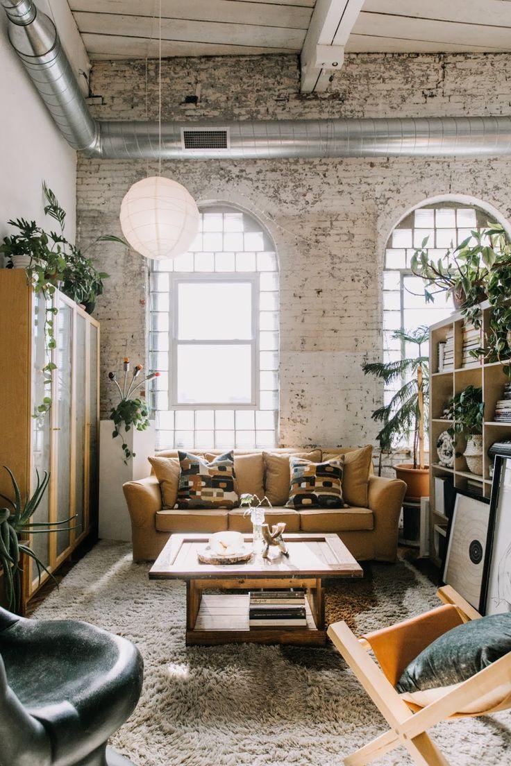 Um Loft Boho Chic Em 2020 Apartamentos Estilo Loft Apartamentos Decorados Sotao Decoracao