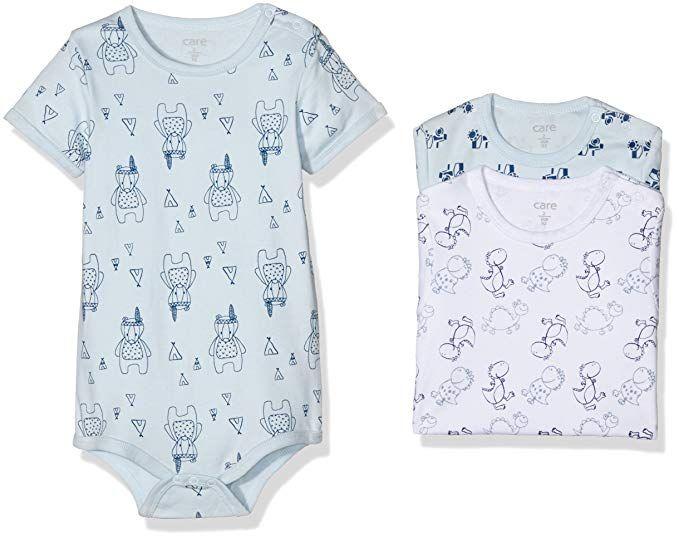 Care Unisex Baby Kurzarm-Body im 3er Pack