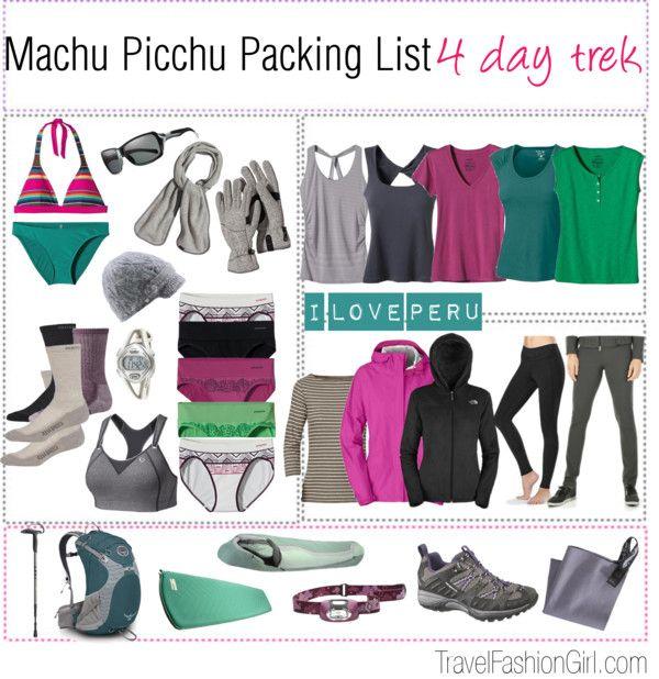 Inca Trail and Machu Picchu Tours Packing List #travel #packinglist #peru via TravelFashionGirl.com