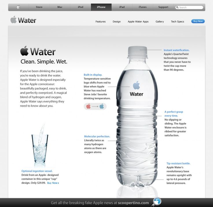 LOL! #apple #design #water #funny