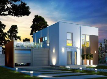 Modernes Cube Haus mit Dachterrasse von DAN-WOOD
