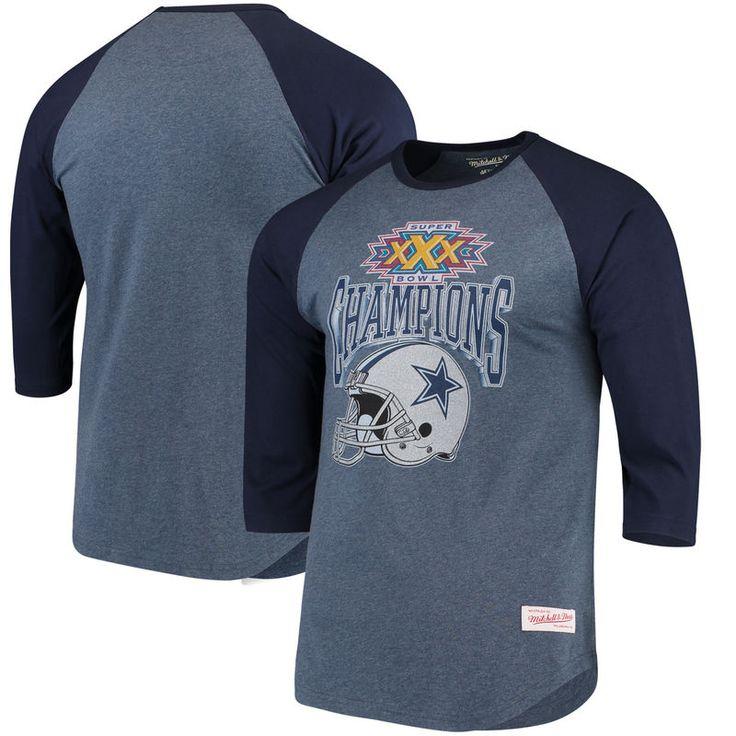 Dallas Cowboys Mitchell & Ness Winning Score Long Sleeve Raglan T-Shirt - Navy
