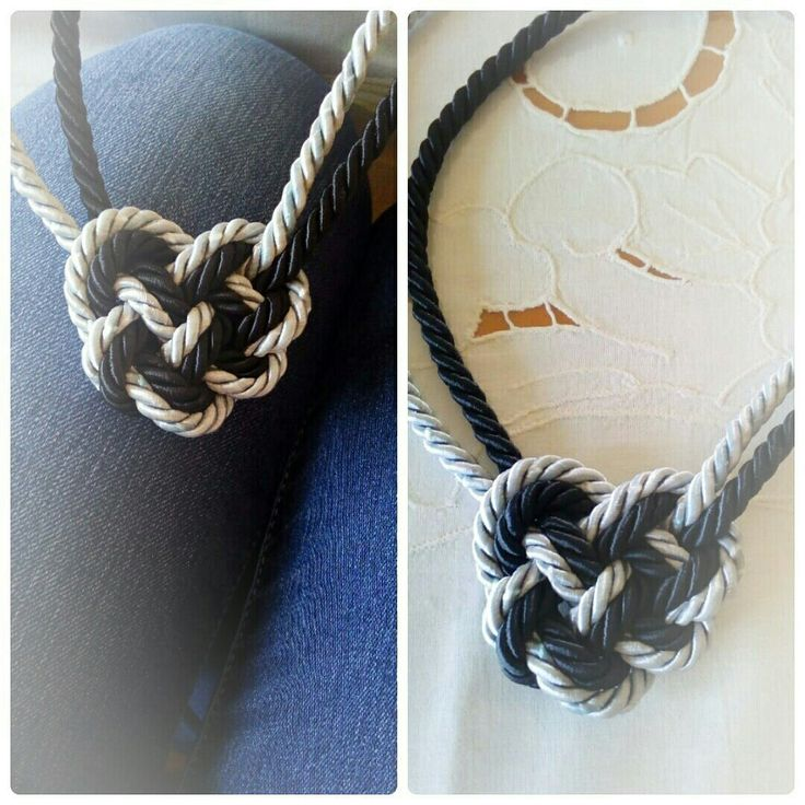 Celtic heart knot....The same necklace , with different rope , in black and silver grey !...I love it....