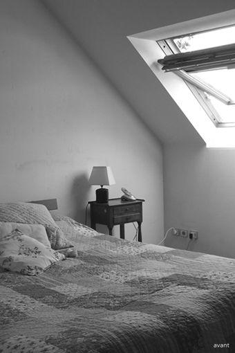 bonnesoeurs decoration suite parentale 04 chambre tete de lit planches de coffrage rocking chair rar eames