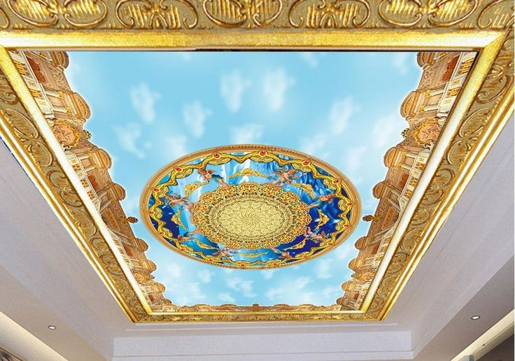 13.71$  Buy now - customized 3d Ceiling photo wallpaper murals Angel blue sky 3d wallpaper for ceiling living room  #buychinaproducts