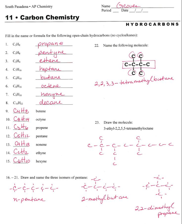 Worksheets Organic Compounds Worksheet hydrocarbon nomenclature naming hydrocarbons practice worksheet answers organic chem pinterest worksheets