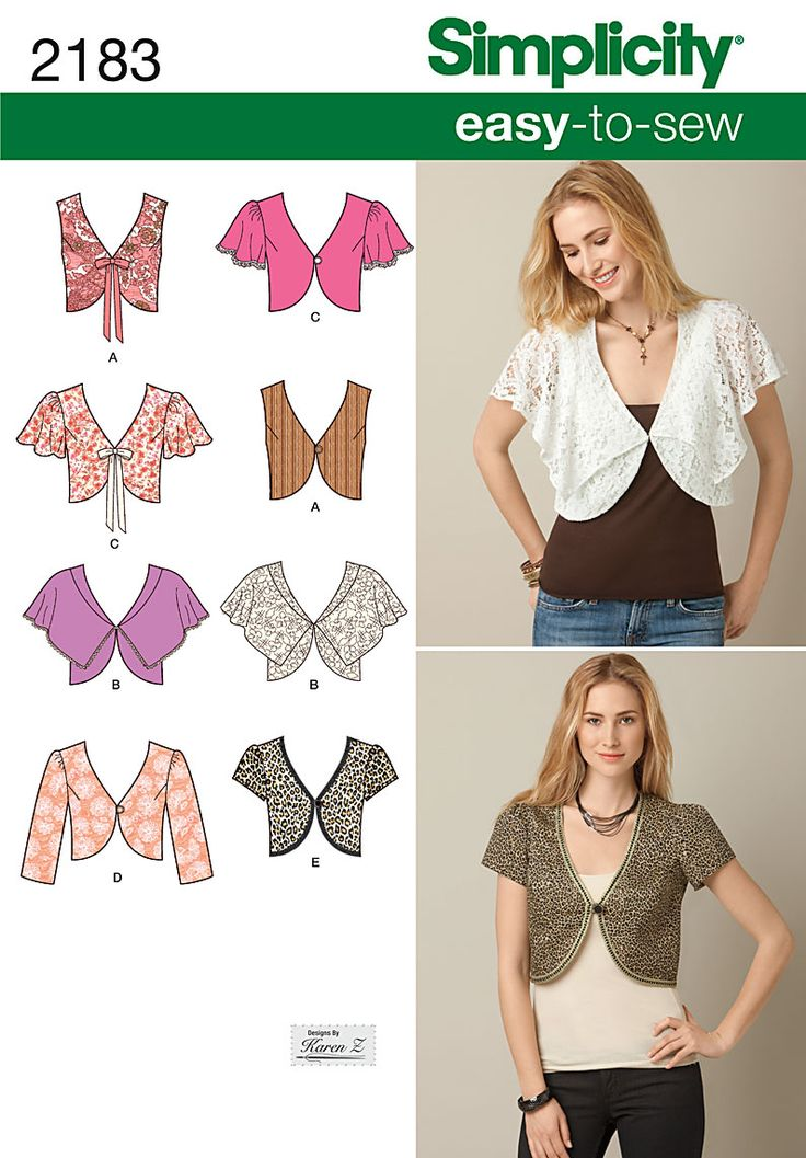 Simplicity pattern 2183: Misses' Easy to Sew Vest or Jacket.