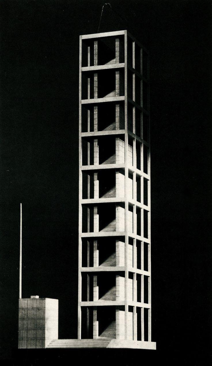 Progetto Torre in P.za Duomo, GARDELLA, Milano 1934 #torre #tower #landmark