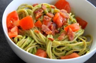 Avocado, bacon, and tomato pasta | Recipe