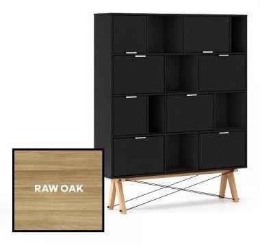 Minko Regał Pocket raw oak - MIN35-d - Szafki i regały - zdjęcia, pomysły, inspiracje - Homebook