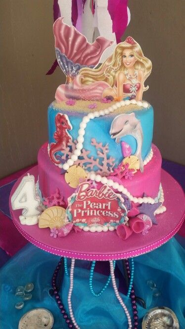 Barbie Pearl Princess Cake Mermaid Party Pinterest