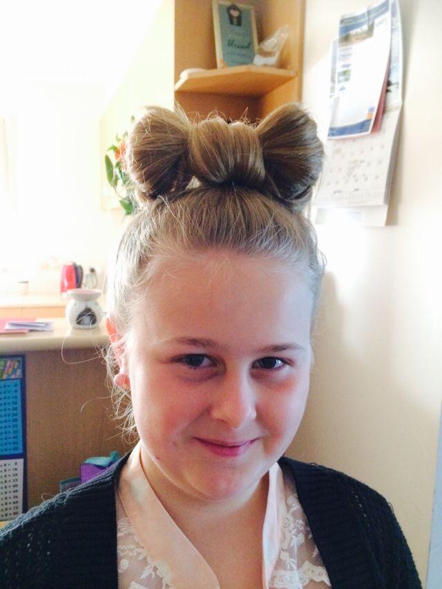 Tahlia's Minnie Mouse Hair September 2014
