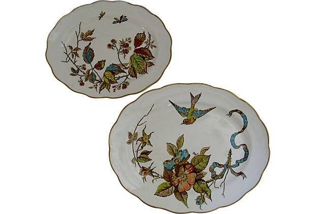 Victorian Transferware Platters, Pair on OneKingsLane.com
