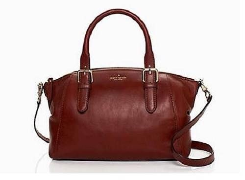 Kate Spade Brighton Park Sloan Satchel Darkroast Brown Leather Bag Msrp 458 Katespade 249 Carry It Everywhere Bags