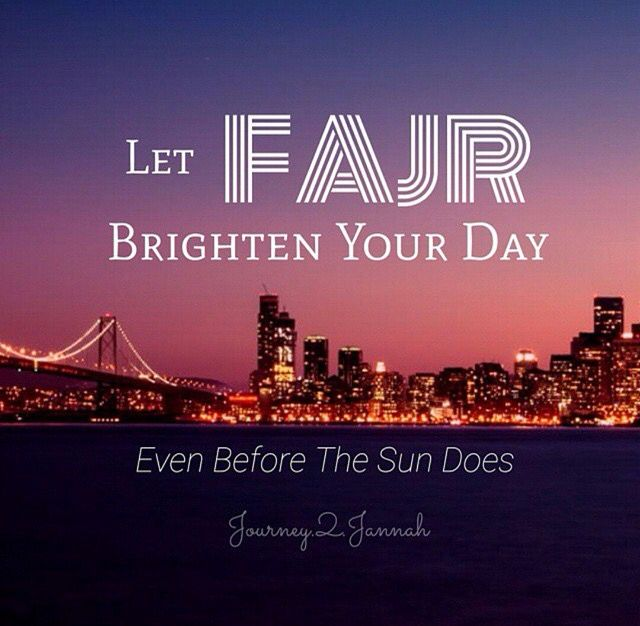 Fajr is my favorite salah before i leave for work.