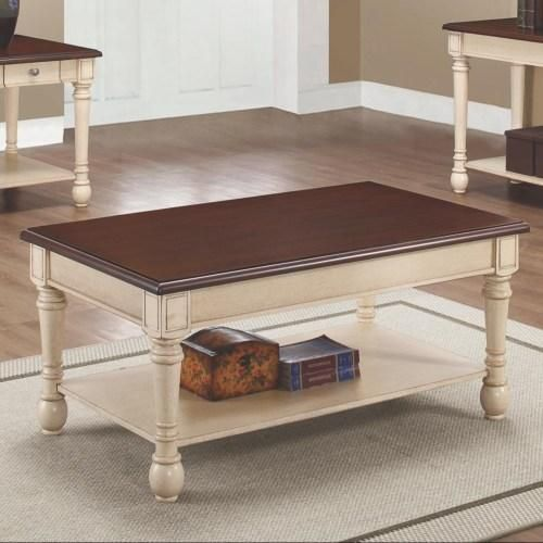 Two-Toned Transitional Coffee Table