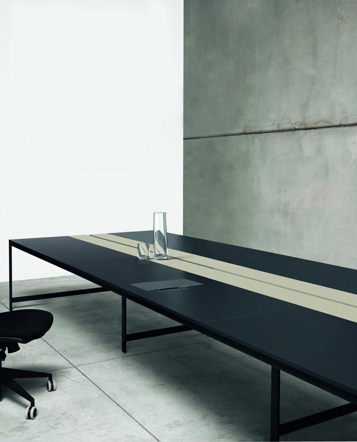 K-word desk #black&sand #humanoffice #elegance #sober