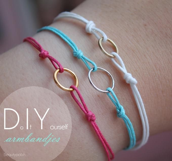 DIY Bracelet (not in English, but you can figure it out by the pictures)