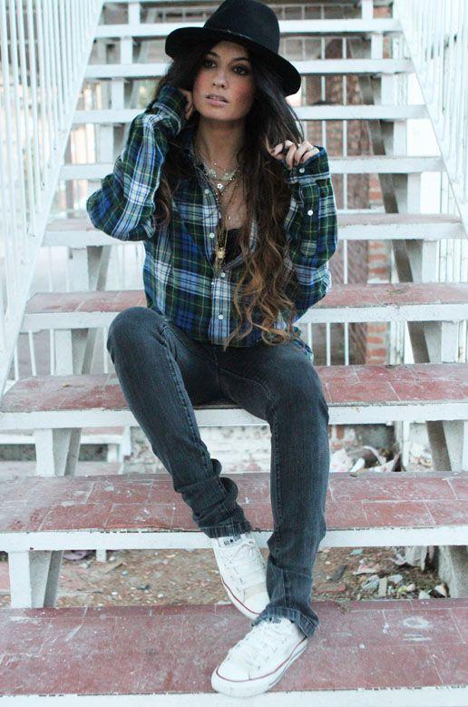 12/13/12 ralph lauren shirt, zara jeans, converse shoes, zara hat, nadka made with love necklaces.