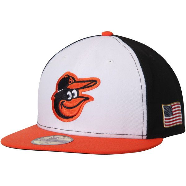 Baltimore Orioles New Era Authentic Collection On-Field 59FIFTY Flex Hat with 9/11 Side Patch - Black - $37.99